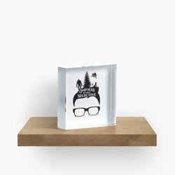 Glasses Oneness Acrylic Block
