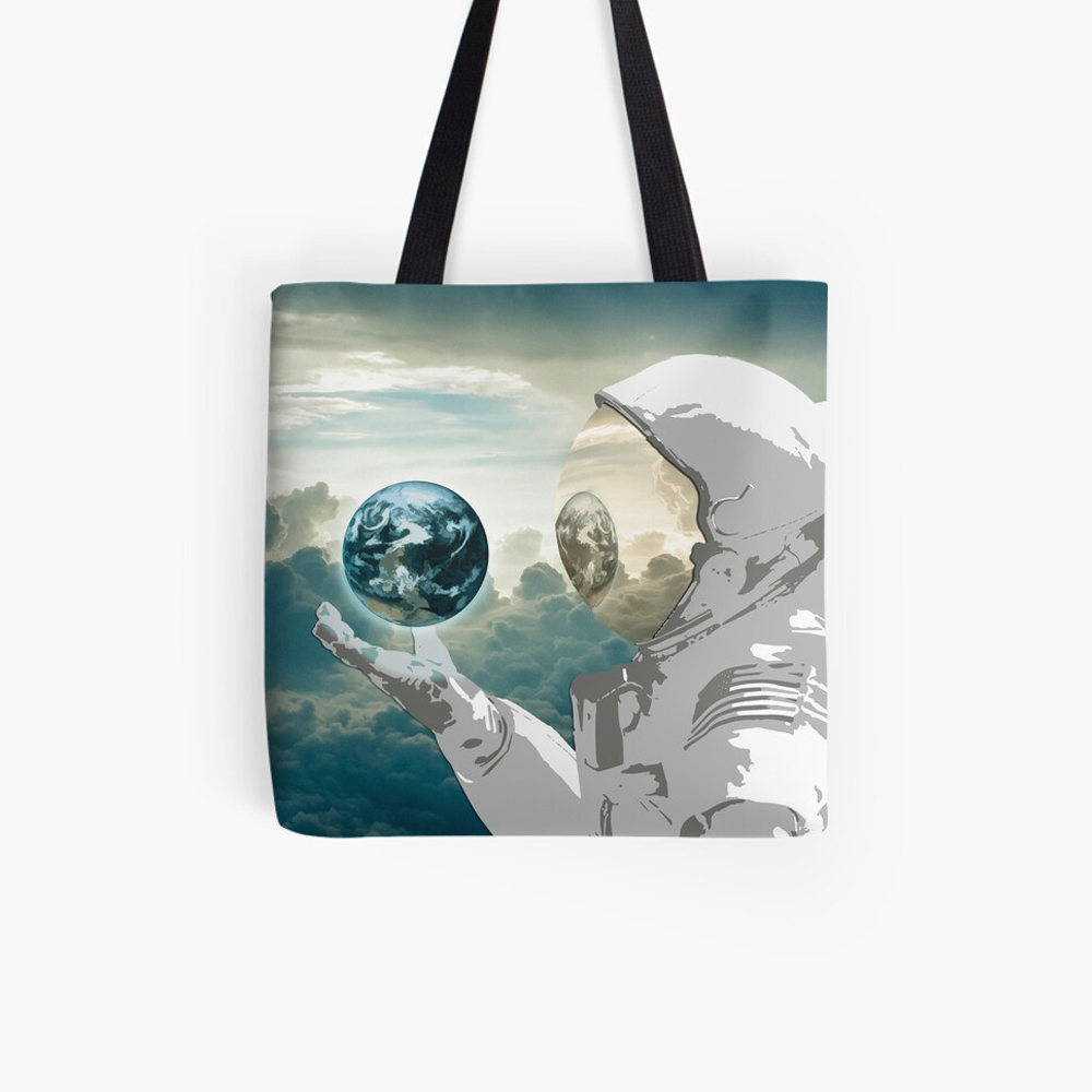 Thoughtful Spaceman Tote Bag