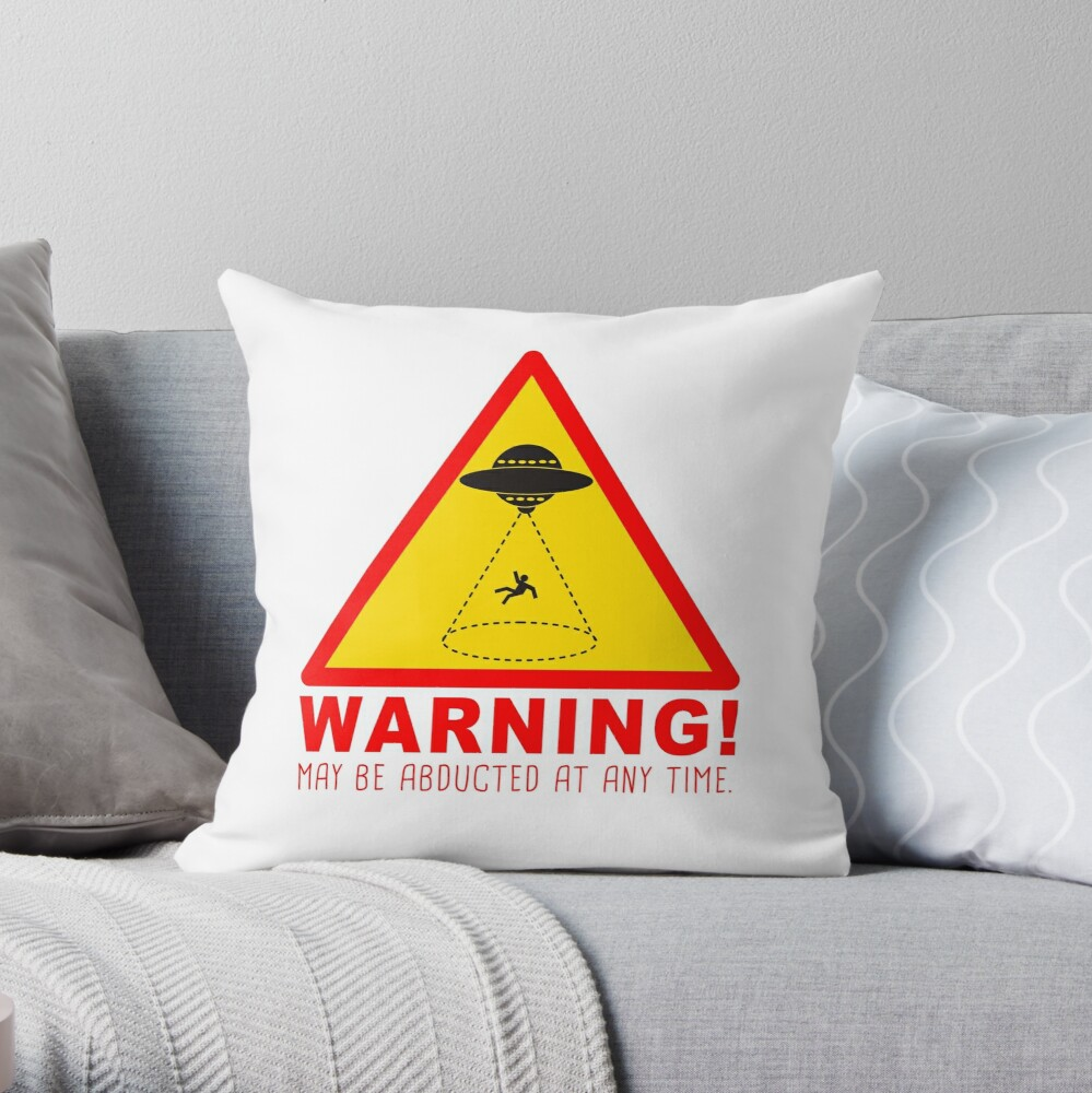 Warning Abduction Pillow