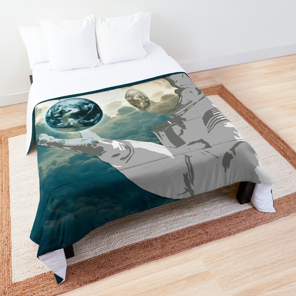 Thoughtful Spaceman Comforter