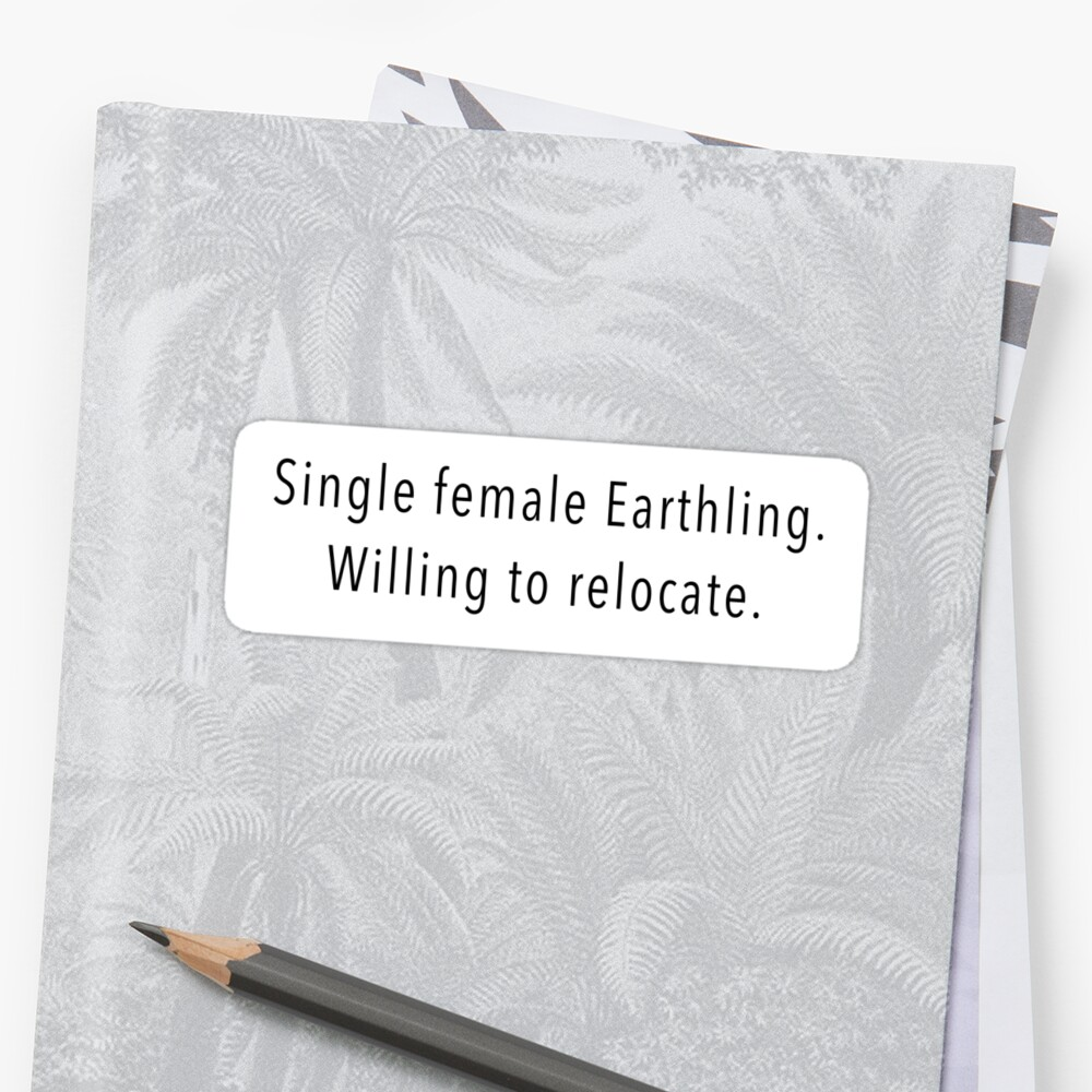 Single Female Sticker