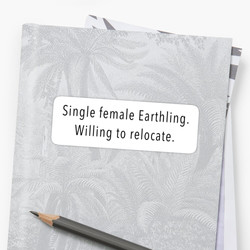 Single Female Sticker