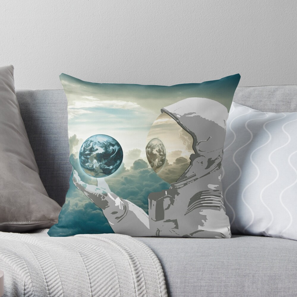 Thoughtful Spaceman Pillow