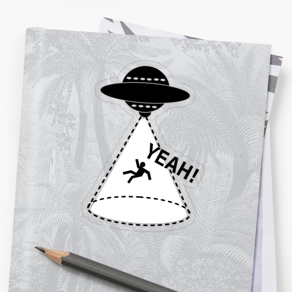 YEAH Spaceship Sticker