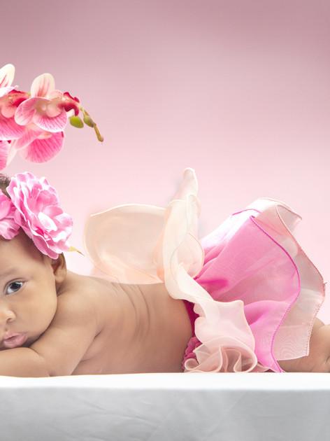 In studio Baby portrait session by fern.elise