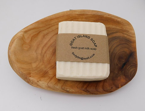 Fresh Goat Milk Soap (WHITE UNSCENTED)