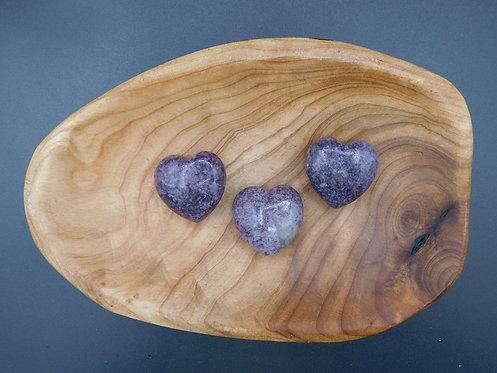 Lepidolite Heart