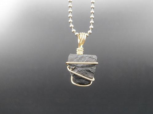 Shungite Nugget Pendant w/Pyrite