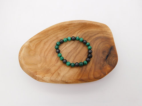 Shungite & Malachite Bracelet