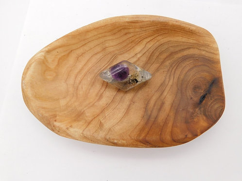 Shungite Silver Powder (S4), Ruby & Citrine Resin Diamond Hair Clip