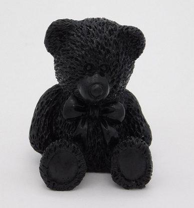Shungite & Silver Powder Resin Bear Totem