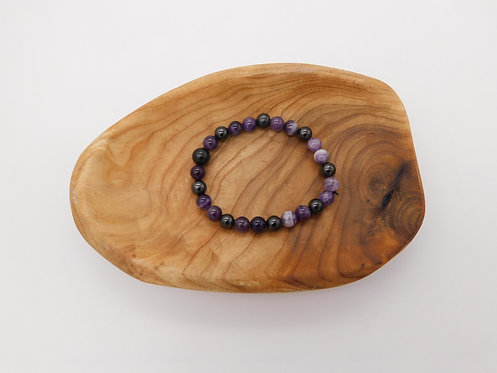 Shungite & Amethyst Bracelet