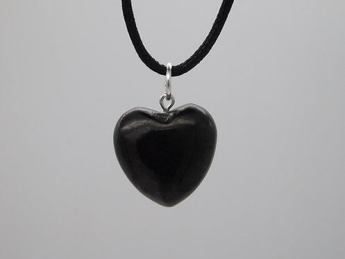 Shungite Heart Pendant (carved)