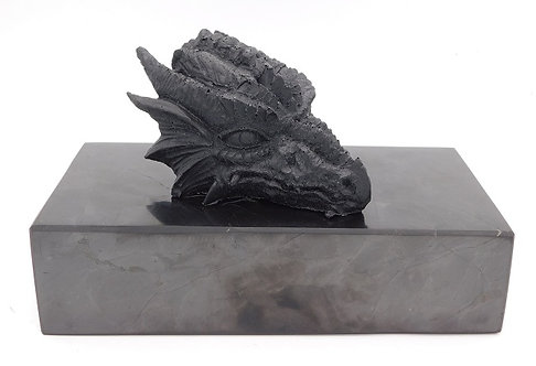 Shungite & Silver Powder Resin Dragon Totem