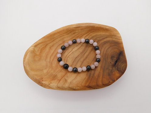 Shungite & Rose Quartz Bracelet