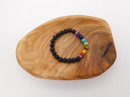 Lava Rock Chakra Bracelet