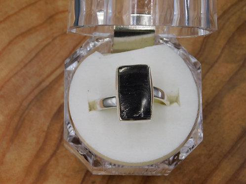 Elite Shungite Silver Ring (adjustable)