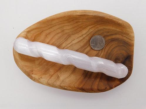 Selenite Wand Twisted (6 inches)