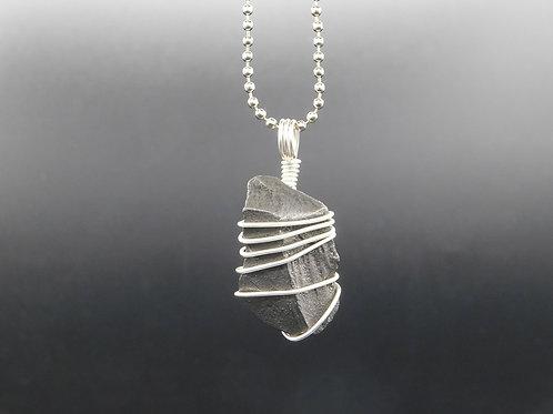 Cosmic Silver Shungite Pendant