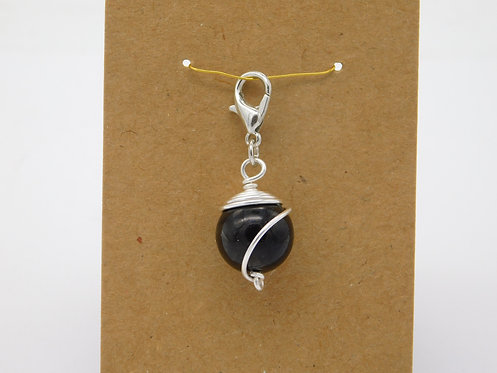 Shungite 12mm Bead Pet Pendant
