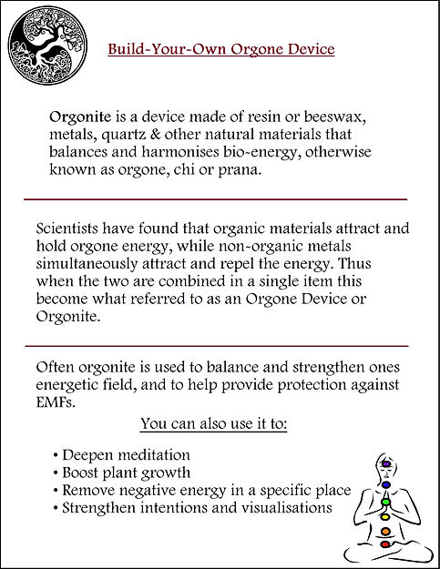 Orgone Device Description Sheet
