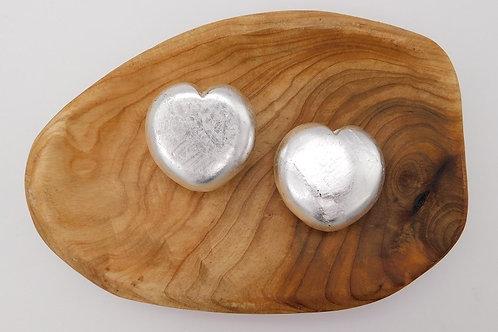 Silver Shungite Heart