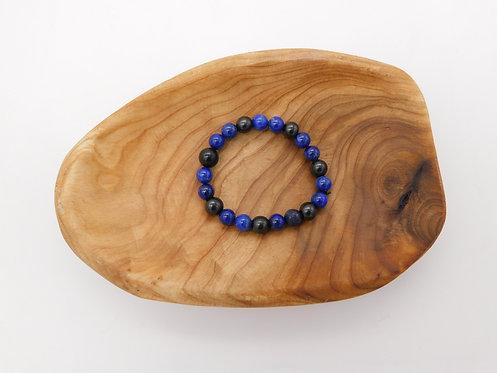 Shungite & Lapis Lazuli Bracelet