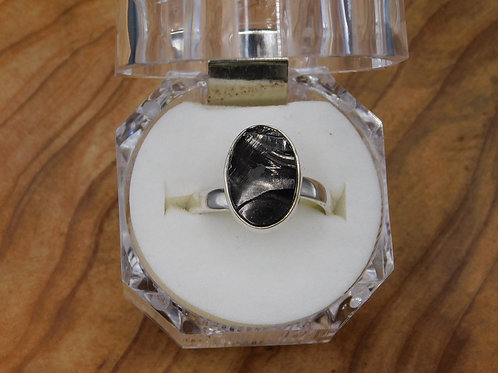 Elite Shungite Silver Ring (adjustable)