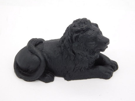 Shungite & Silver Powder Resin Lion Totem