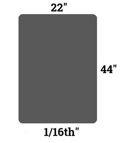 """Shungite S4 Rubber Pad Large (22"""" x 44"""")"""