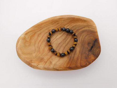Shungite & Tiger's Eye Bracelet
