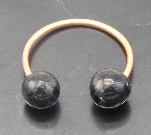 6mm Shungite & Copper Ear Cuff