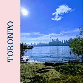 Toronto, Ontario, Kanada'da güneşli bir gün.