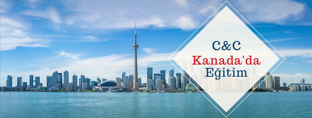 Kanada'nın metropolitan şehri Toronto'nun göl tarafından çekilmiş manzara fotoğrafı.