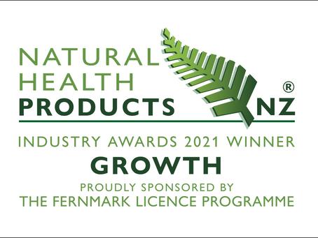 PharmaNZ wins Growth award at Natural Health Products NZ 2021 Awards