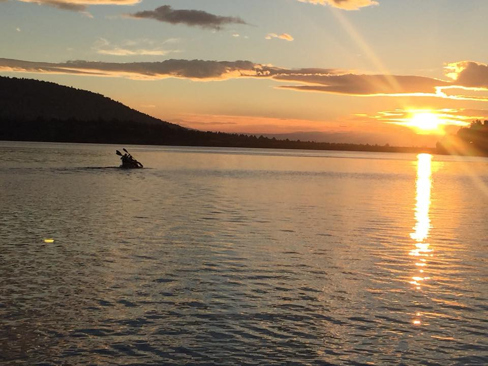 Sunset paddle on Haystack Reservoir