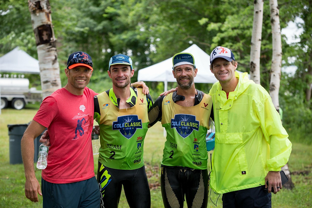 Wearing the RD hat at the Casco Bay Swimrun