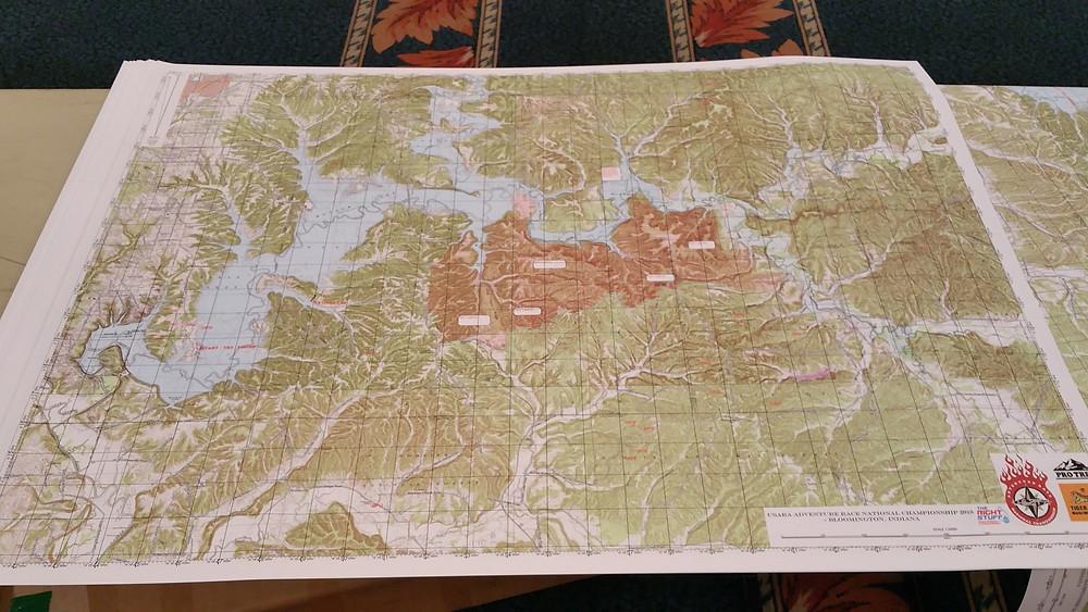 The maps were 3 feet across