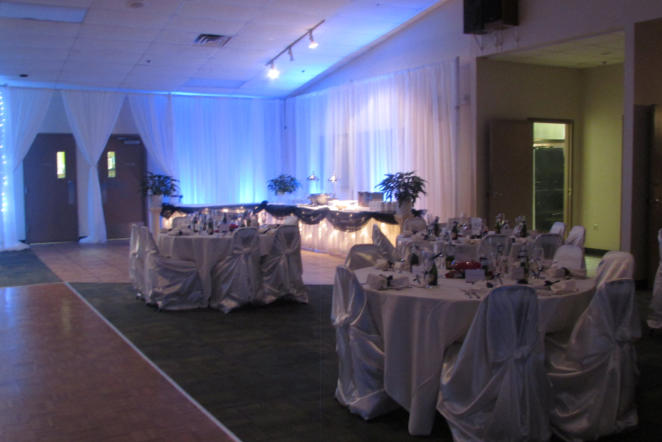 Seating and Buffet area