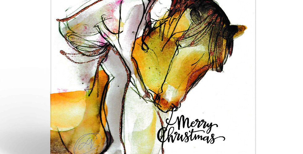 Greeting Card Christmas - The Breeze and I