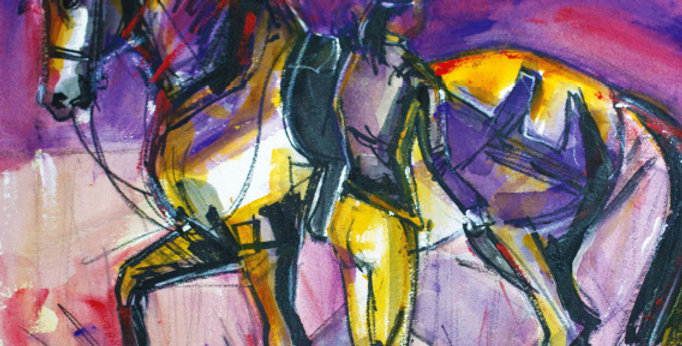 PIAFFE HORSE AND RIDER - SOLD