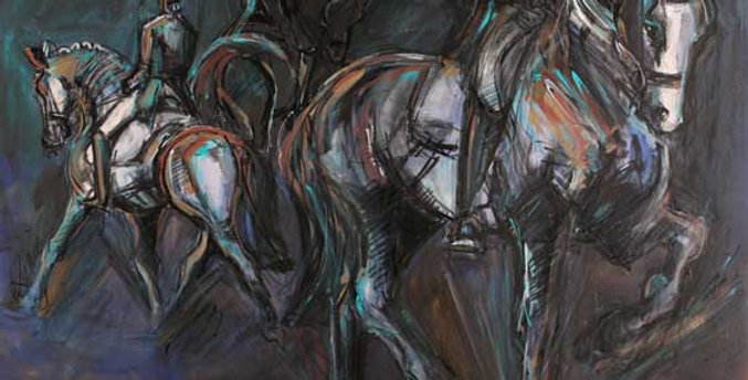 3 Riders 1800x1200mm SOLD