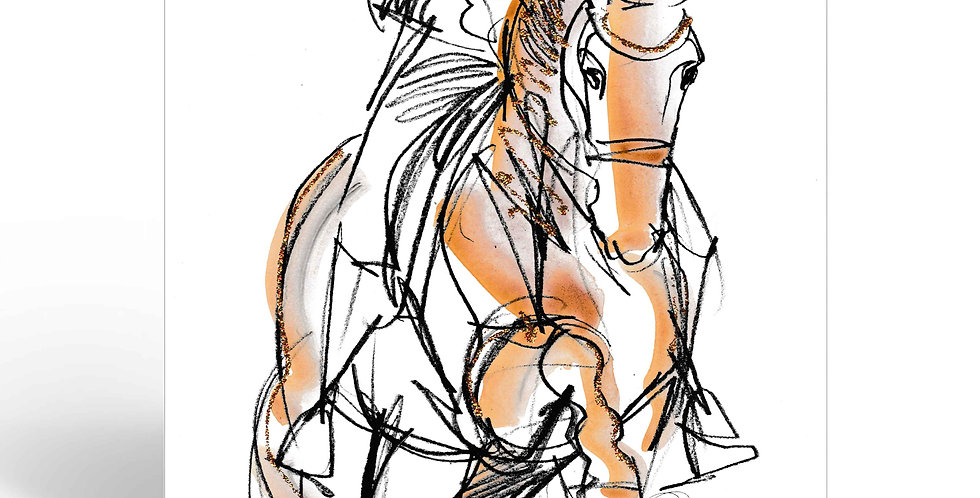 Greeting Card -Dressage Forward