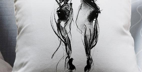 Cusion - Horse Head Screen Print