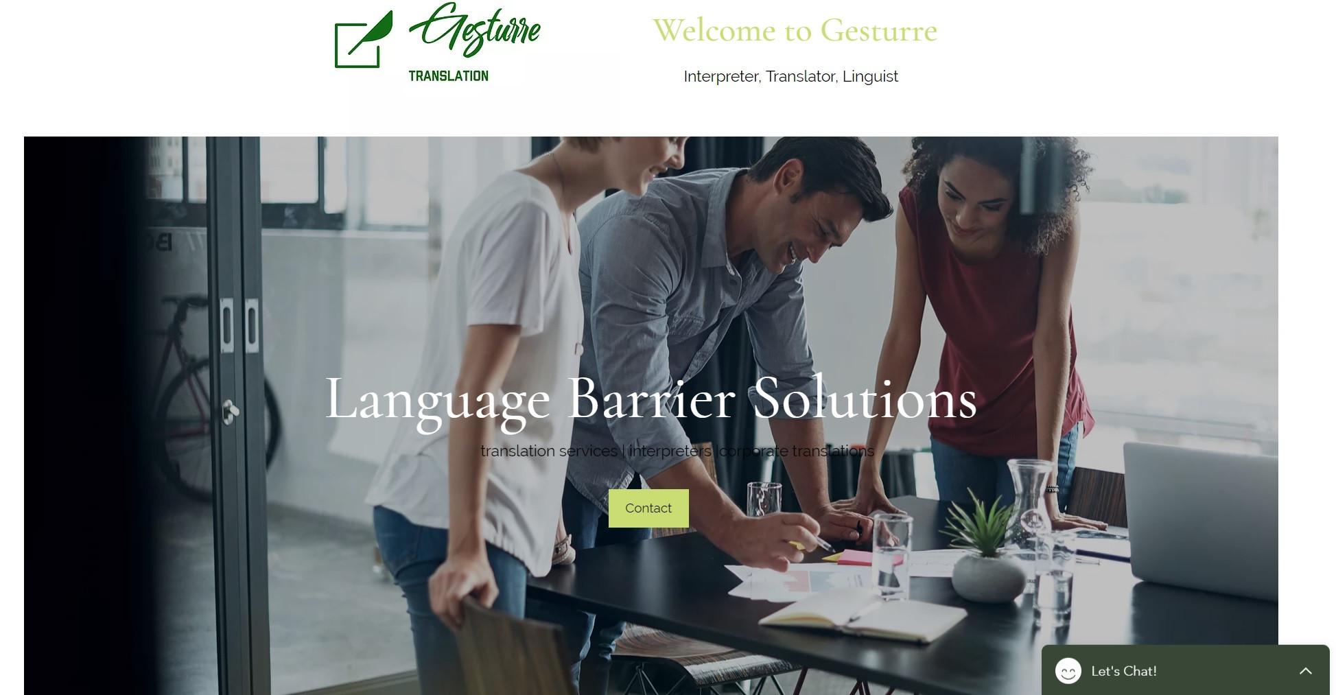 Web Design for Translator and Interpreter
