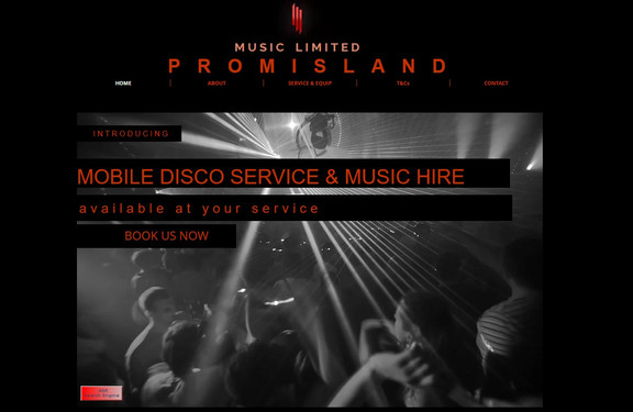 Web Design for DJ and Music Business