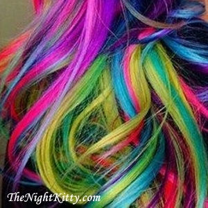 Rainbow Hair Dye - The Night Kitty