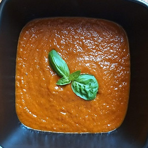 Sweet and Spicy Tomato Basil Soup