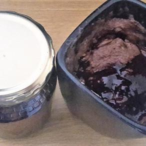 Chocolate Protein Mug Cake With Chocolate Sauce