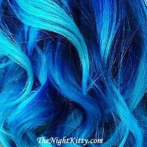 Ocean Blue skullour hair Dye - The Night Kitty